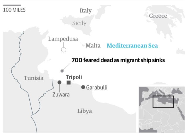 700 migrants feared dead in Mediterranean shipwreck off Libya